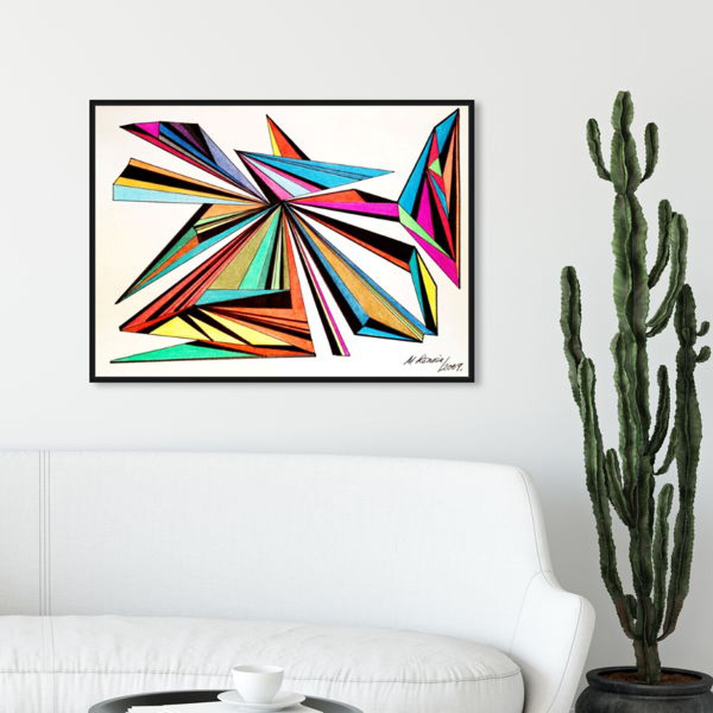 Hanging view of Architecta featuring abstract and geometric art.