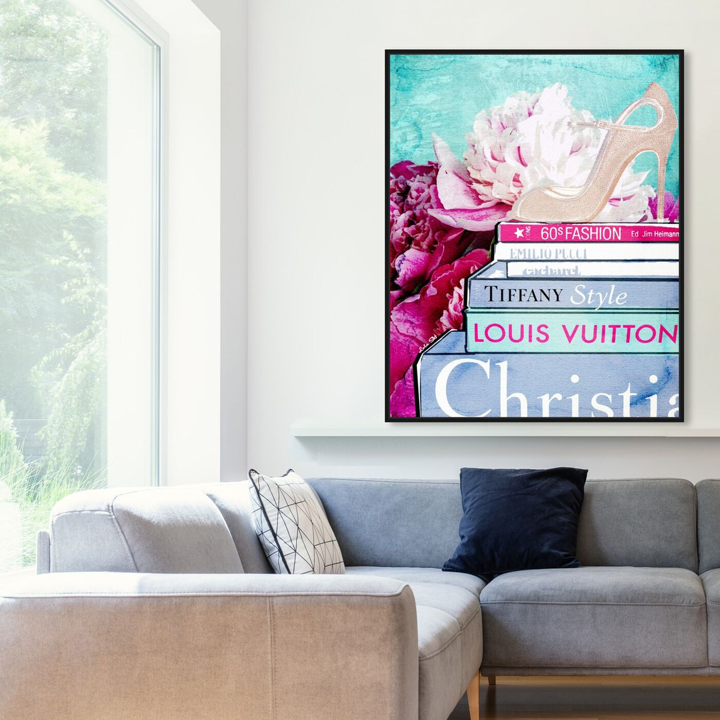 Hanging view of What's On My Mind featuring fashion and glam and shoes art.
