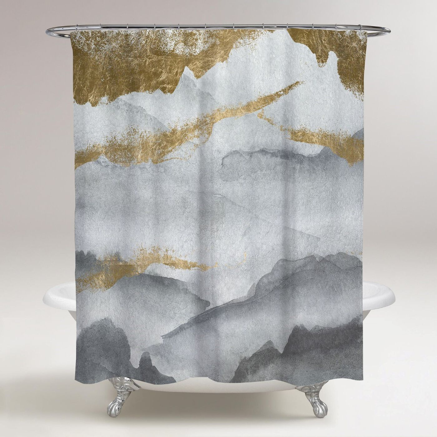 Tibet Mountains Shower Curtain