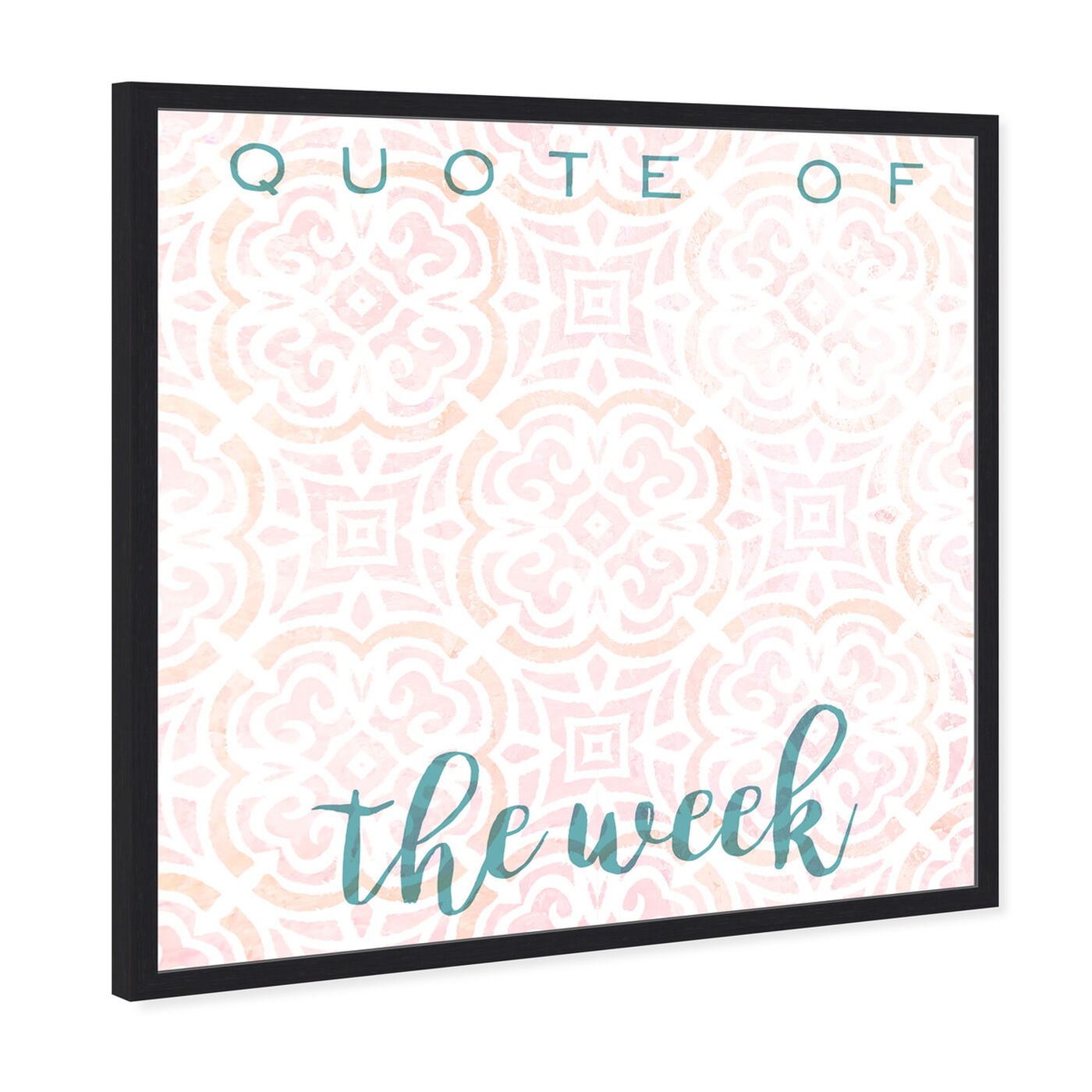 Angled view of Quote Of The Week Bright featuring education and office and whiteboards art.