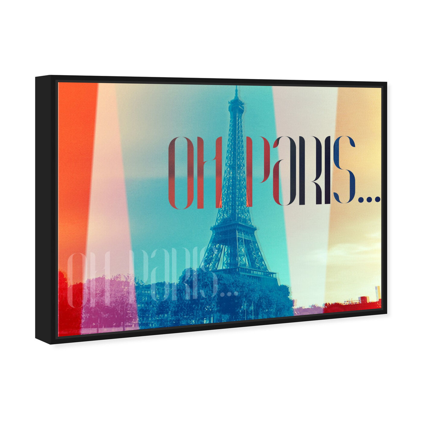 Angled view of Oh Paris featuring world and countries and european countries art.