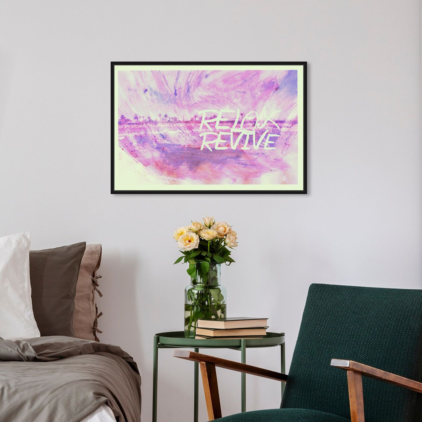 Hanging view of Revive featuring typography and quotes and quotes and sayings art.