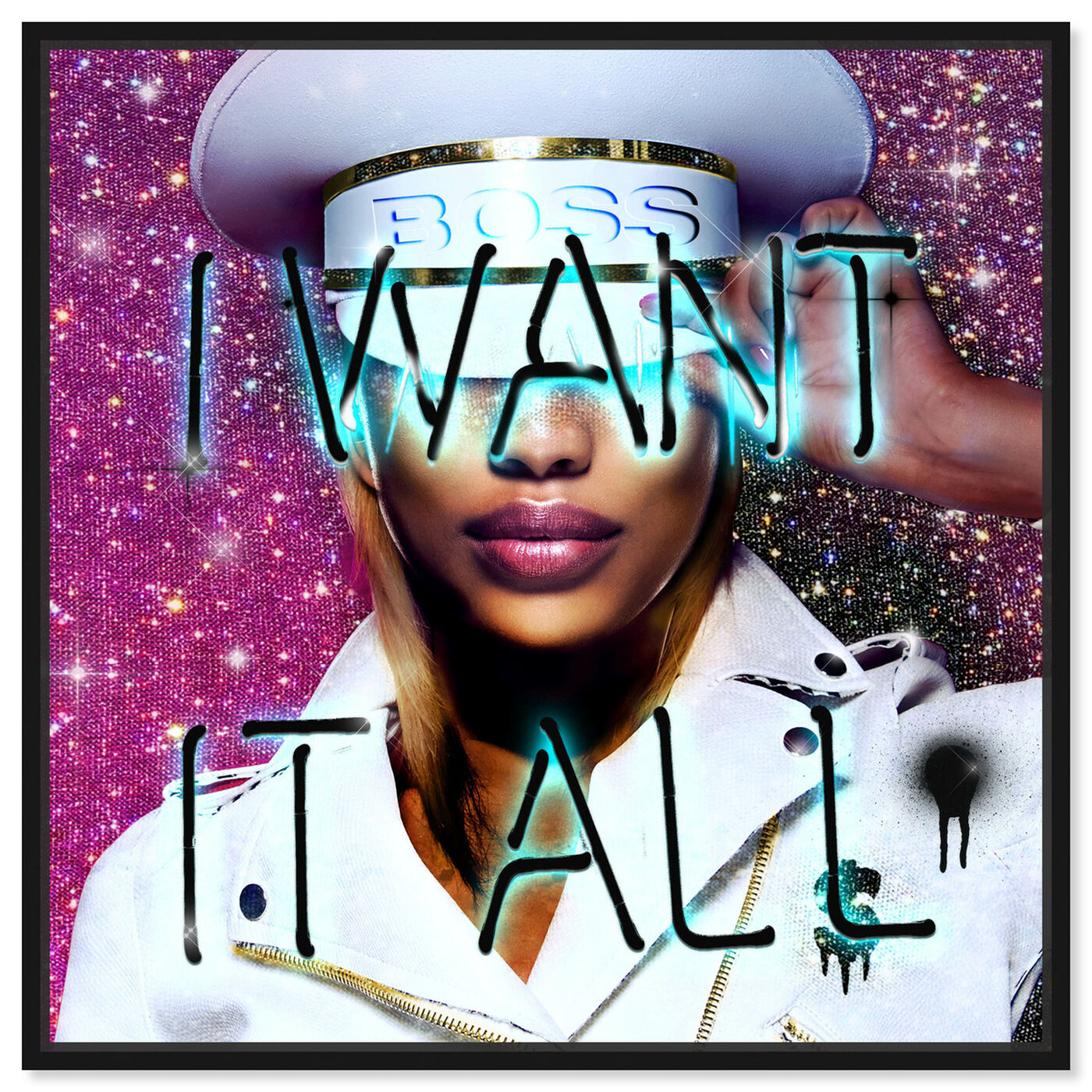 Front view of Want It All Queen featuring fashion and glam and portraits art.