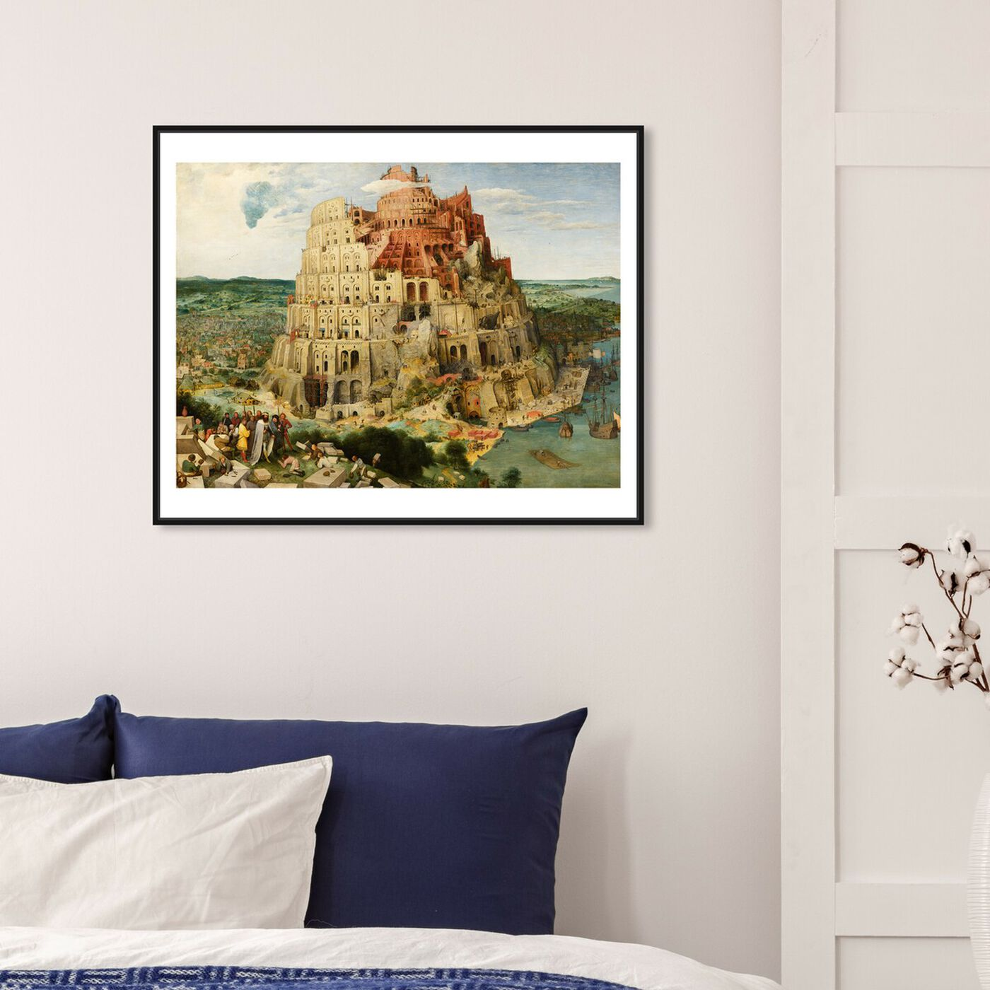 Hanging view of Bruegel - The Tower of Babel featuring classic and figurative and renaissance art.