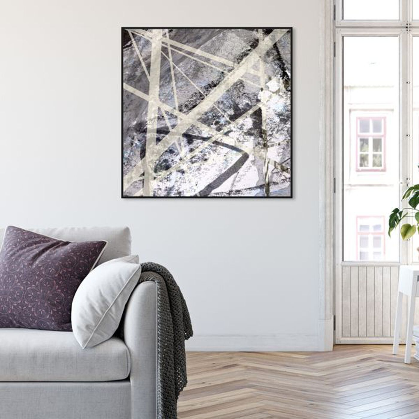 Hanging view of Rien featuring abstract and shapes art.
