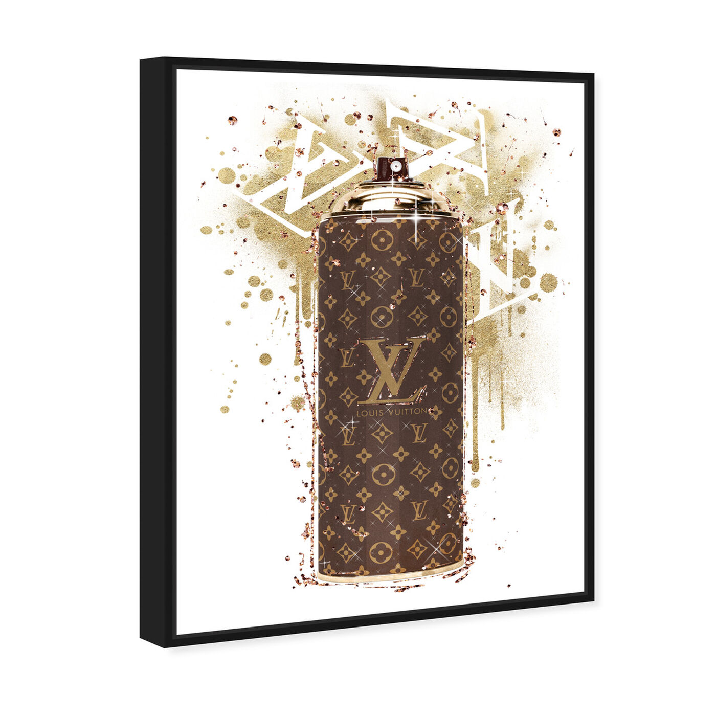 Angled view of Glam Spray Gold featuring fashion and glam and lifestyle art.
