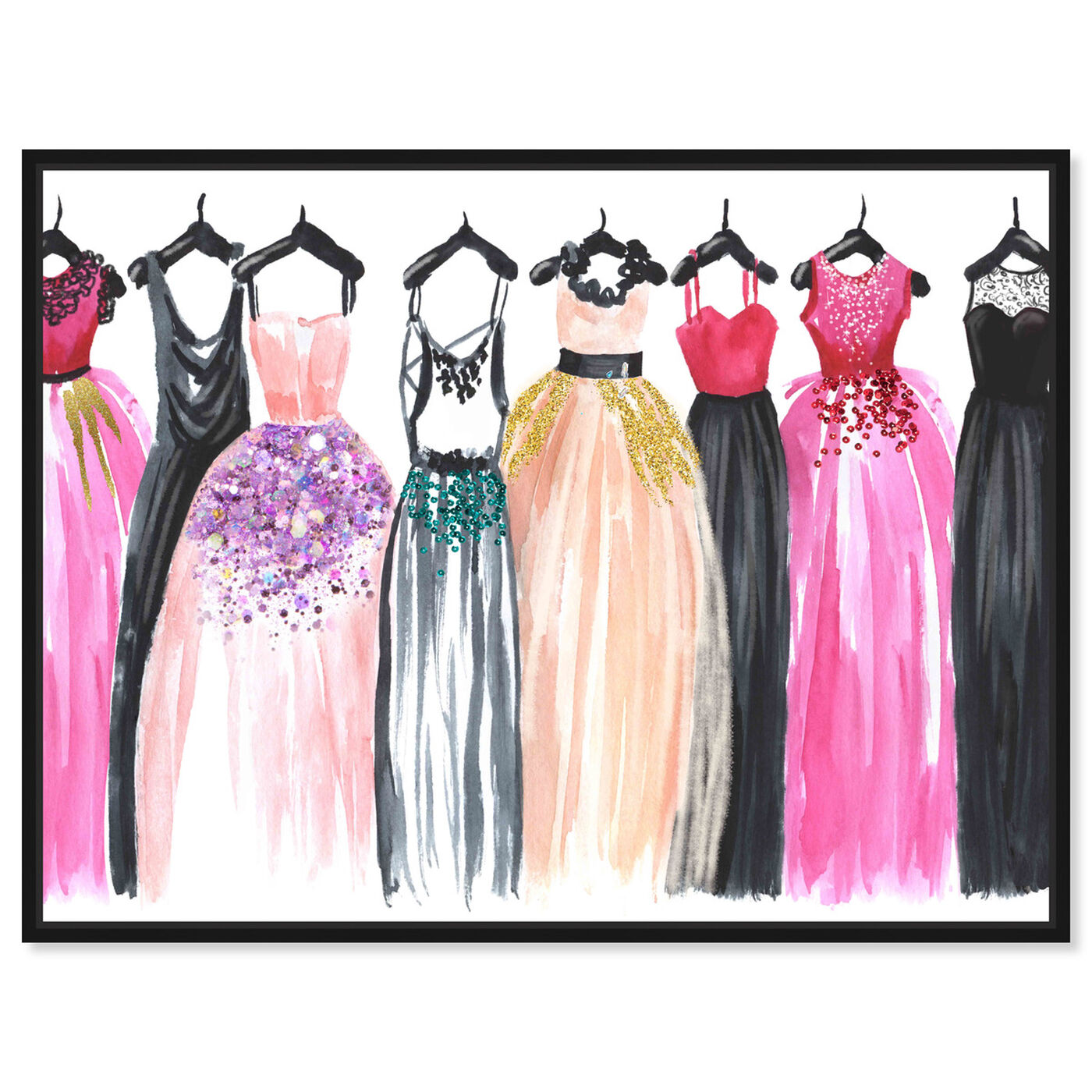 Front view of Our Glam Dresses featuring fashion and glam and sketches art.