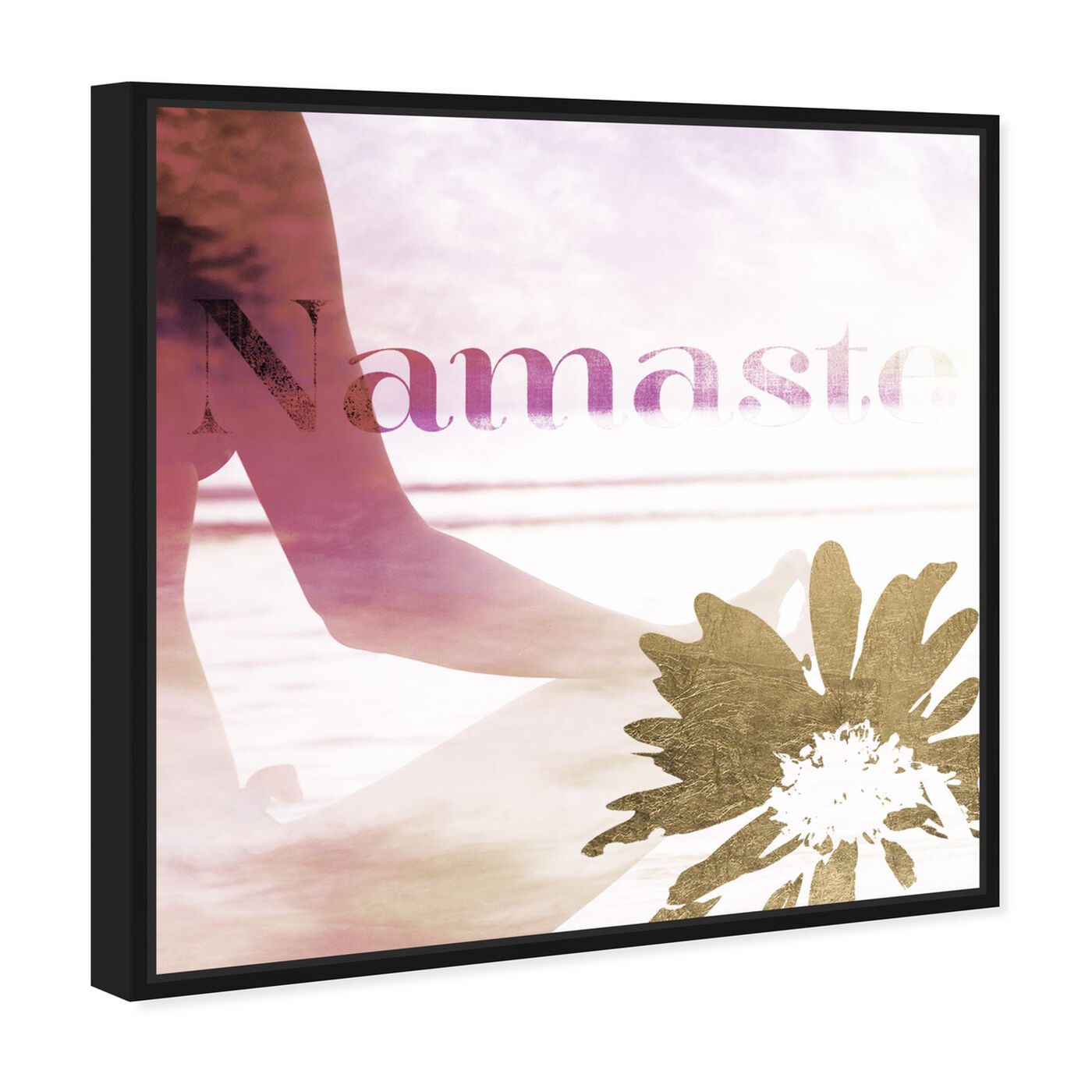 Angled view of Namaste featuring typography and quotes and quotes and sayings art.