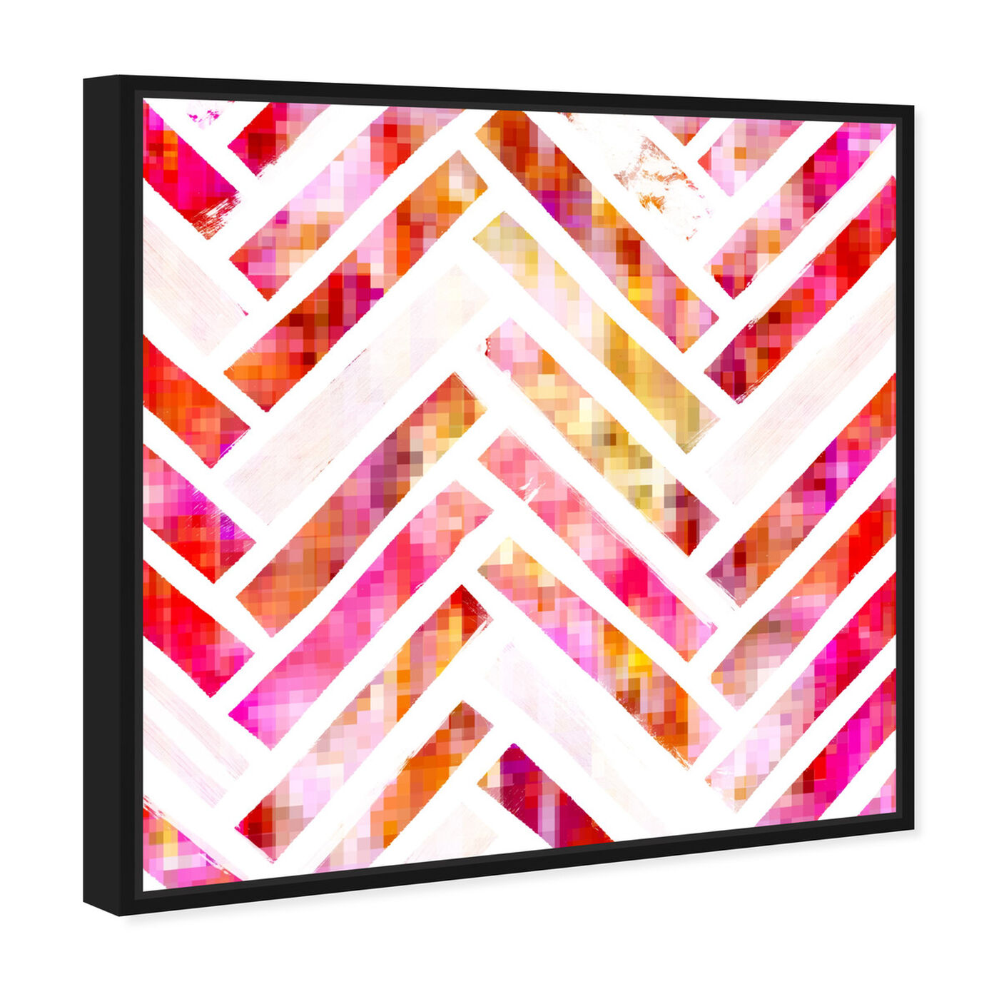 Angled view of Sugar Flake Herringbone featuring abstract and patterns art.