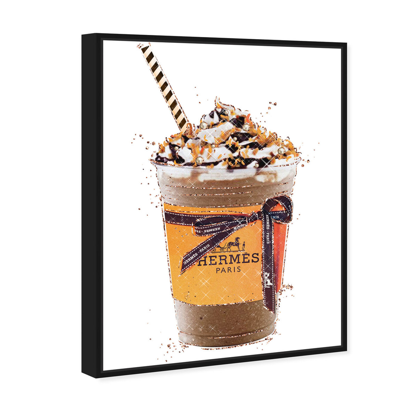 Angled view of Caramel Amber Drink featuring fashion and glam and lifestyle art.