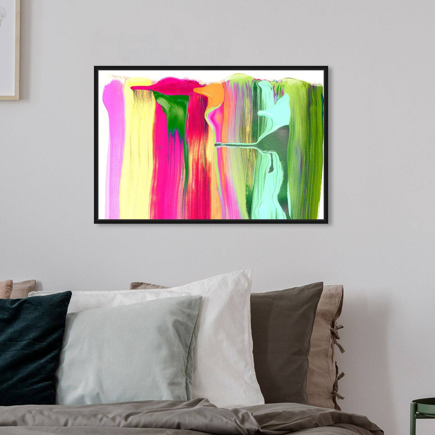Hanging view of Come out to Play featuring abstract and paint art.
