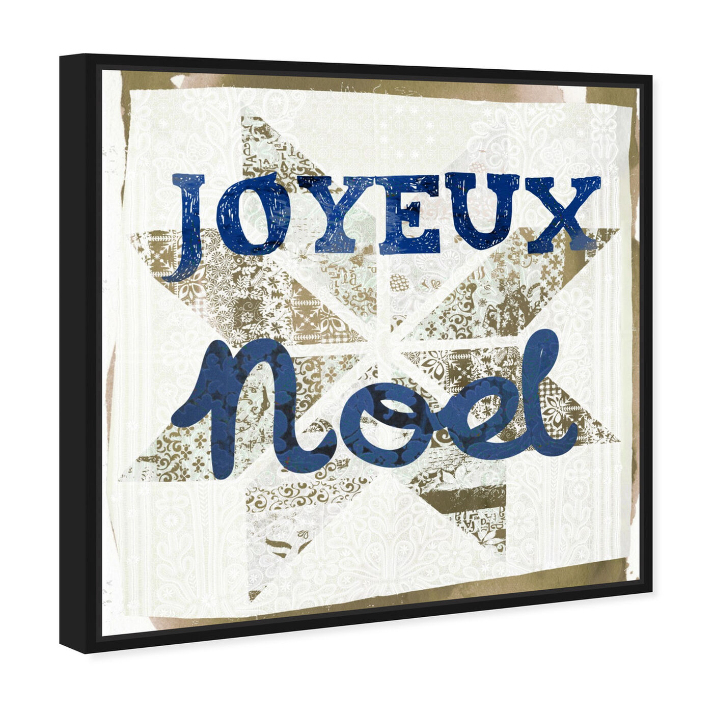 Angled view of Star Noel Blue featuring holiday and seasonal and holidays art.