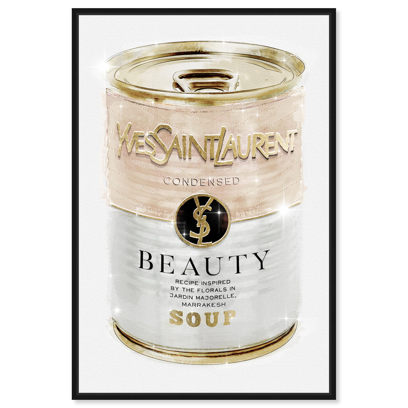 Front view of Yves Beauty Soup Can Nude featuring fashion and glam and cans art.
