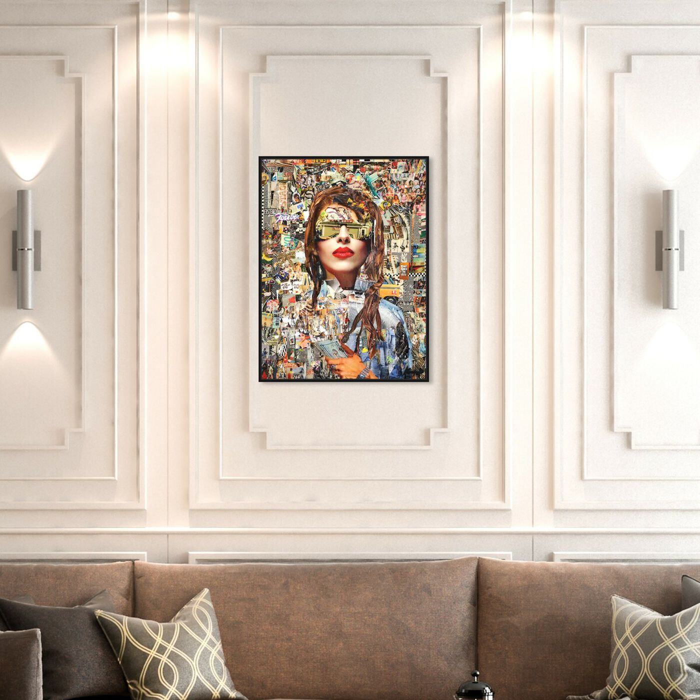 Hanging view of Katy Hirschfeld - Successful featuring fashion and glam and portraits art.