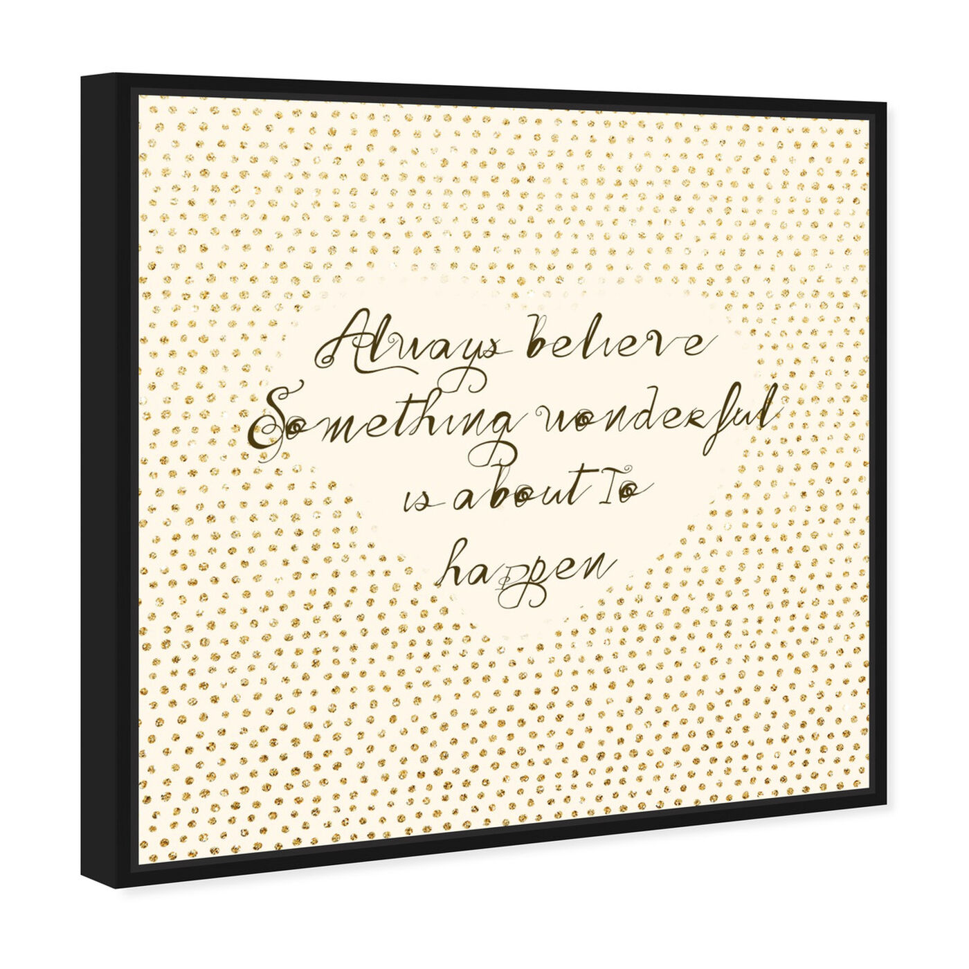 Angled view of Something Wonderful featuring typography and quotes and inspirational quotes and sayings art.