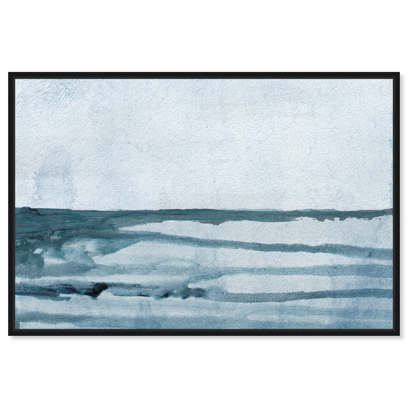 Front view of Washed Waves featuring abstract and paint art.