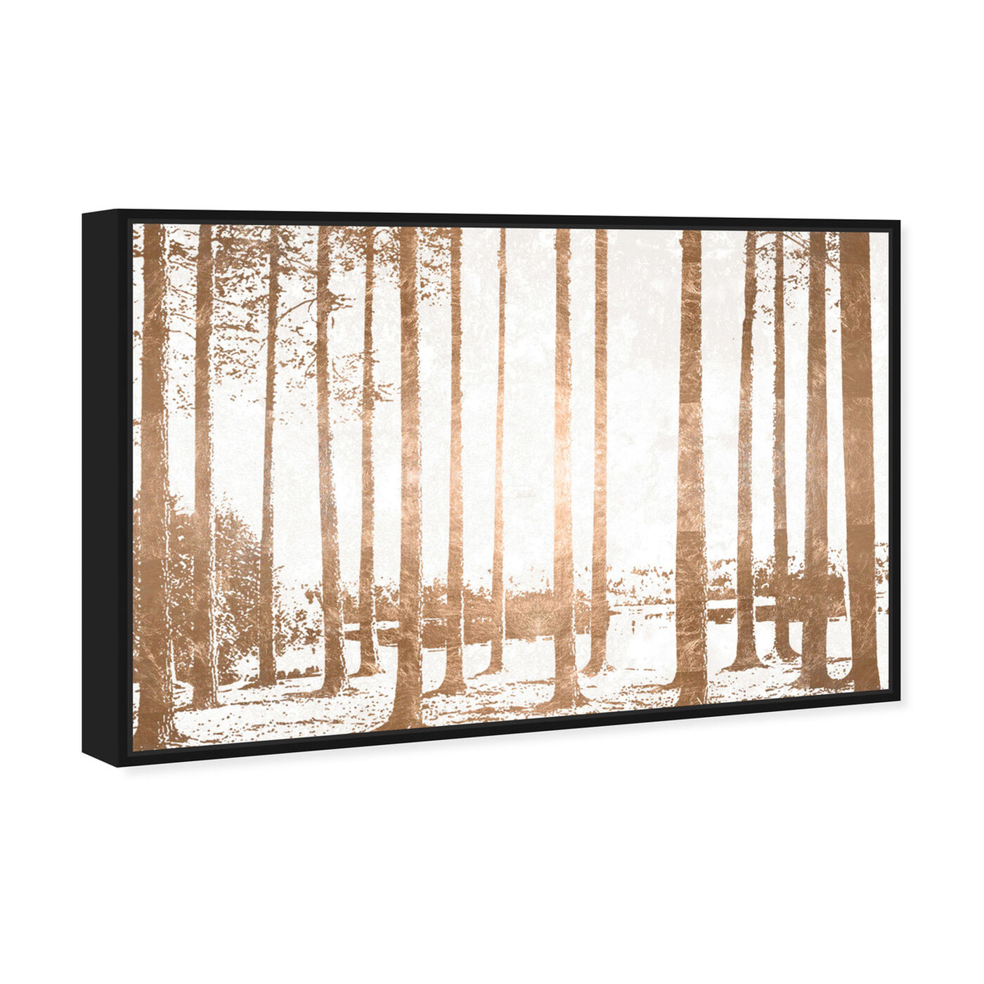 Angled view of Found in the Woods Copper featuring nature and landscape and forest landscapes art.