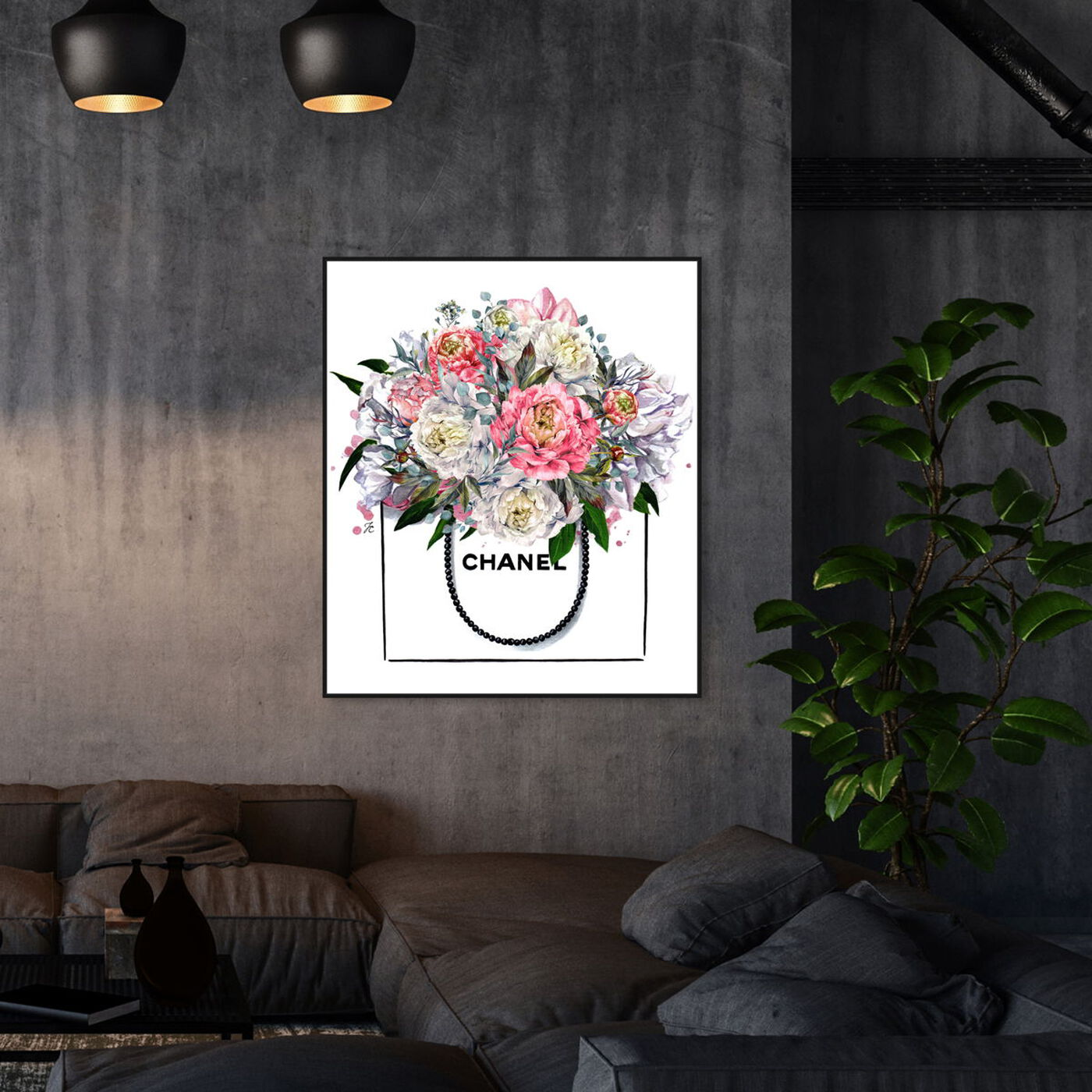 Hanging view of Doll Memories - Flowers and Peonies featuring floral and botanical and florals art.