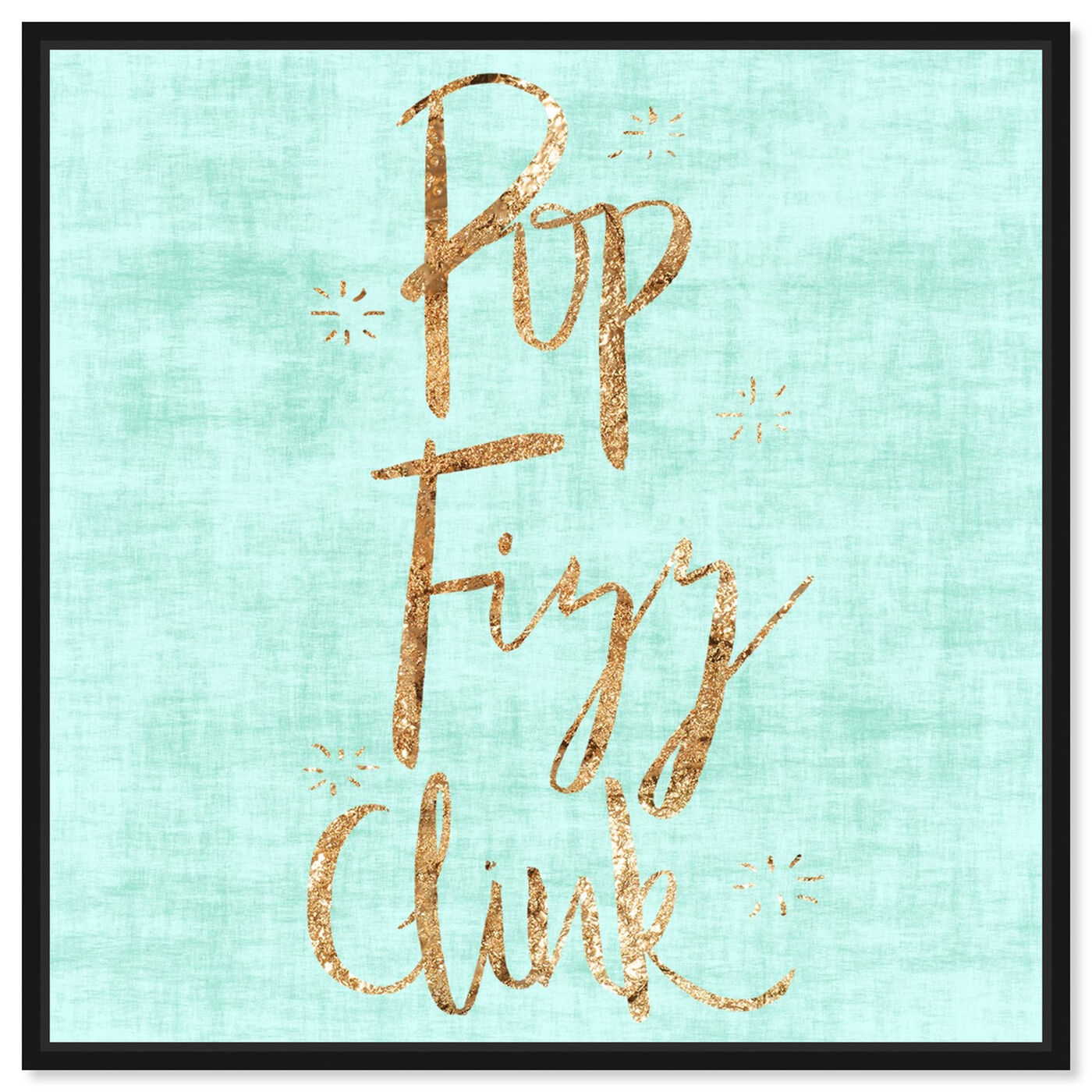 Front view of Pop Fizz Clink featuring typography and quotes and funny quotes and sayings art.
