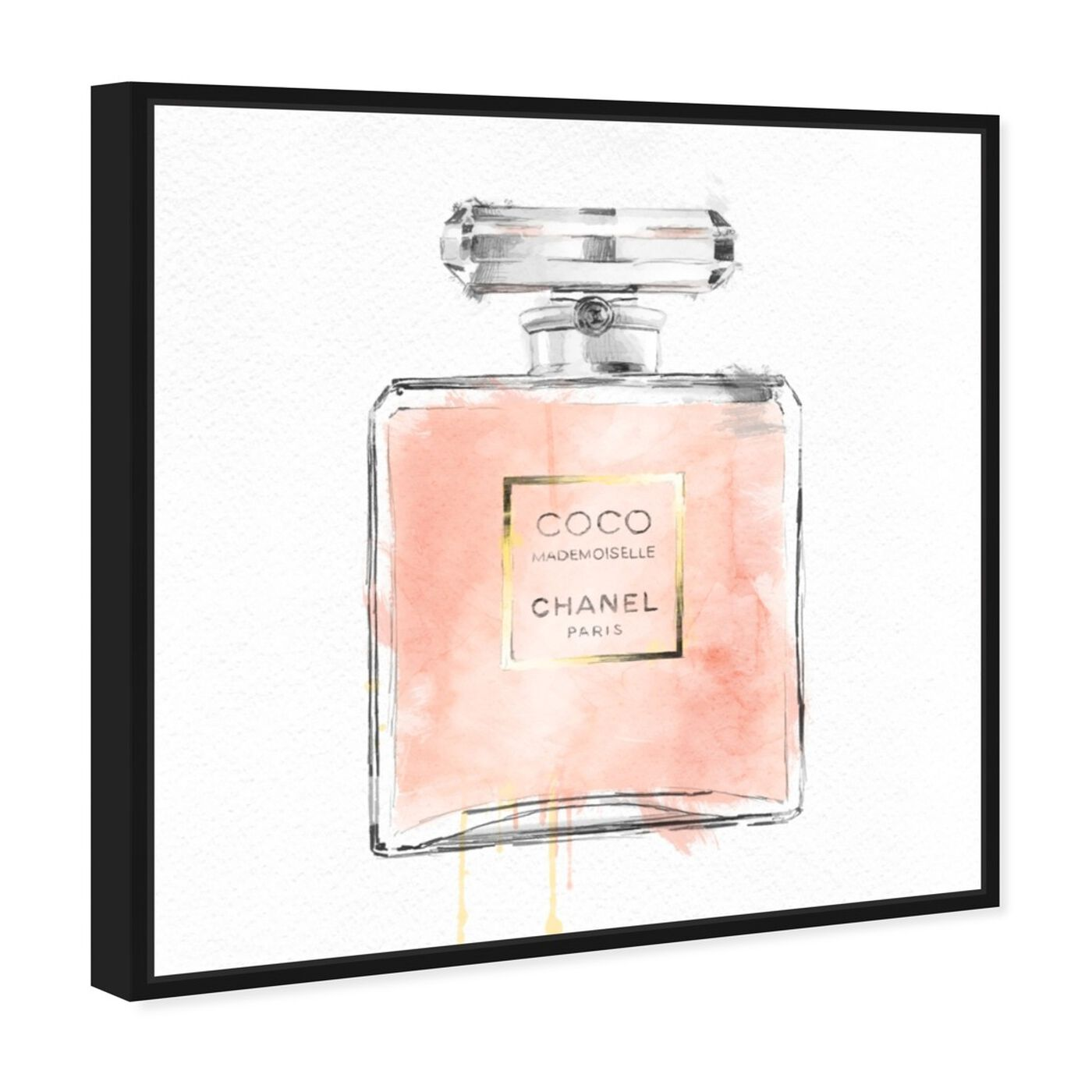 Angled view of Mademoiselle featuring fashion and glam and perfumes art.
