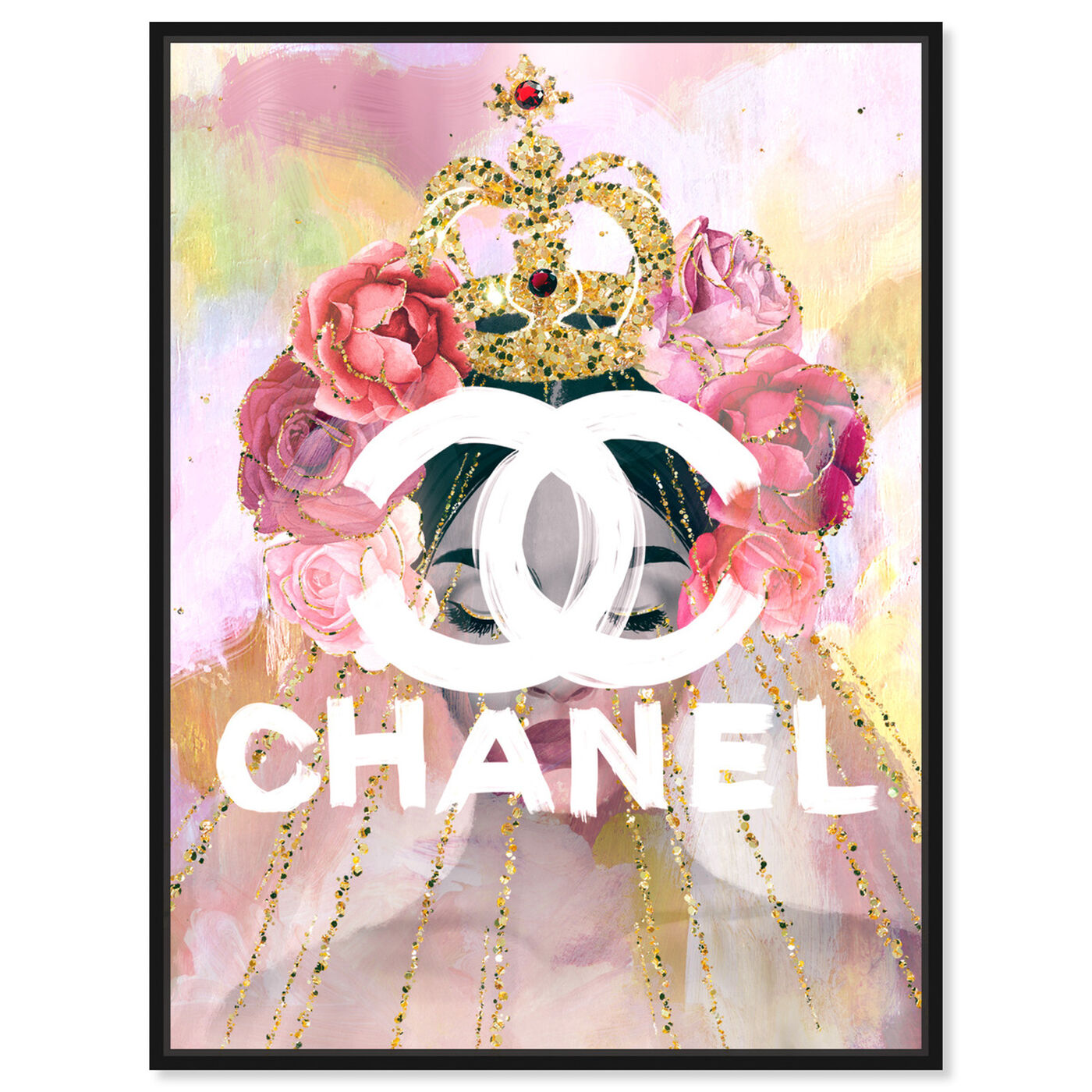 Front view of Crown Couture Queen featuring fashion and glam and lifestyle art.