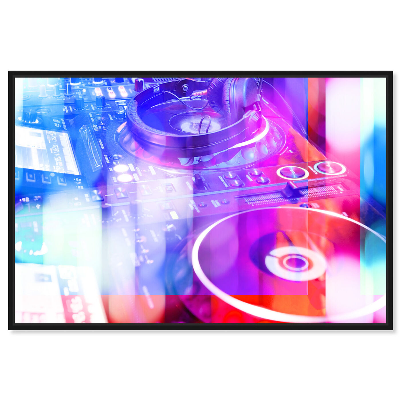Front view of Hey DJ featuring music and dance and dj art.