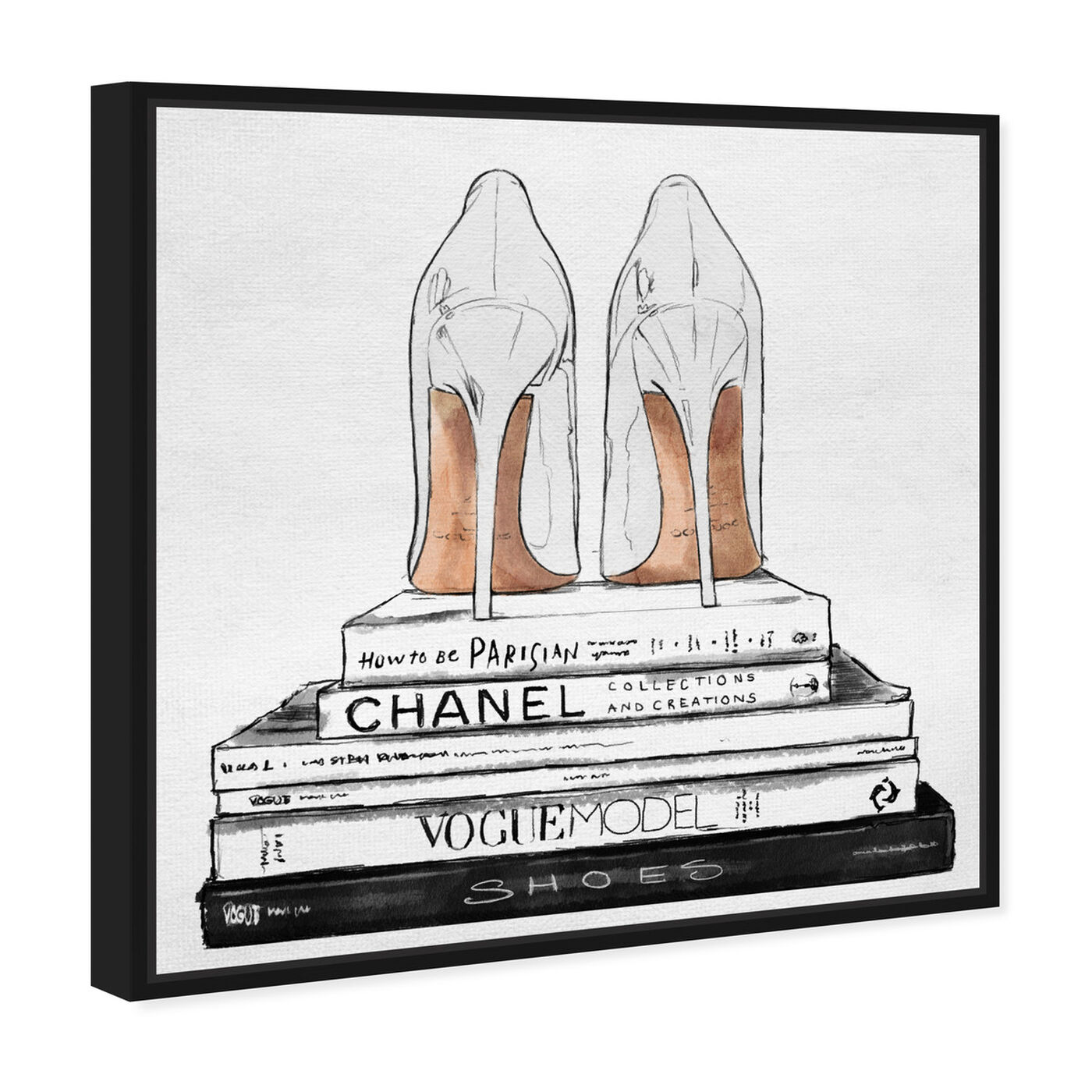 Angled view of Sandalone Shoes I featuring fashion and glam and shoes art.