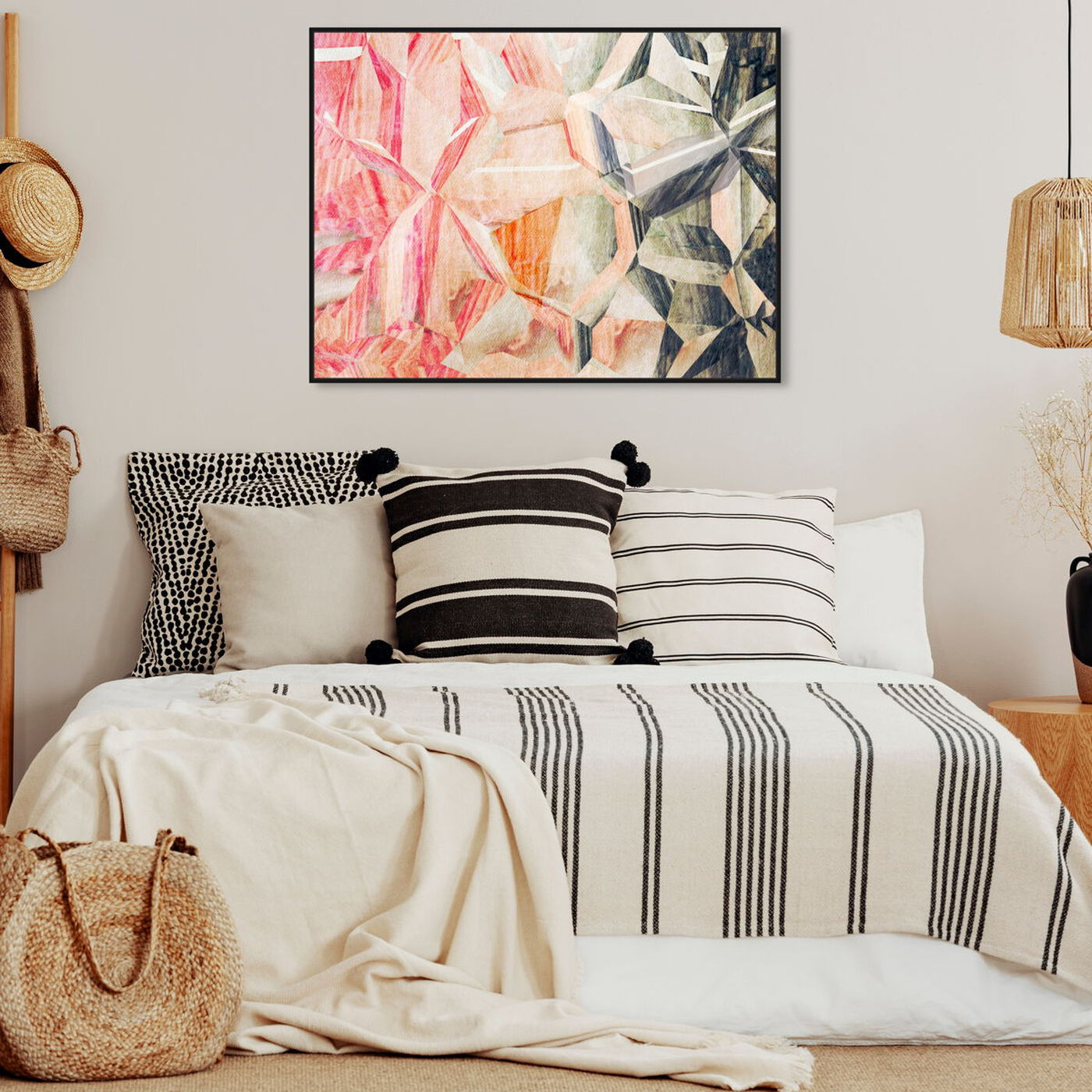 Hanging view of Beautiful Modern featuring abstract and shapes art.