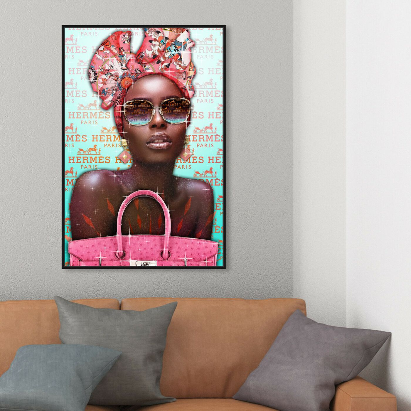 Hanging view of TBT featuring fashion and glam and handbags art.