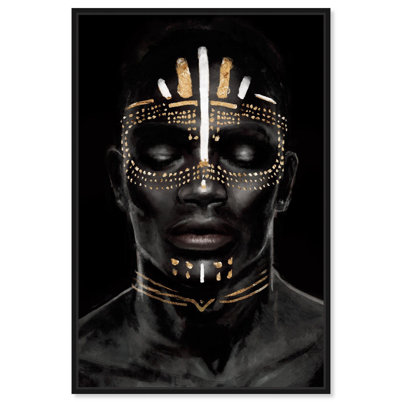 Front view of Strong Reign of Gold II featuring world and countries and african cultures art.