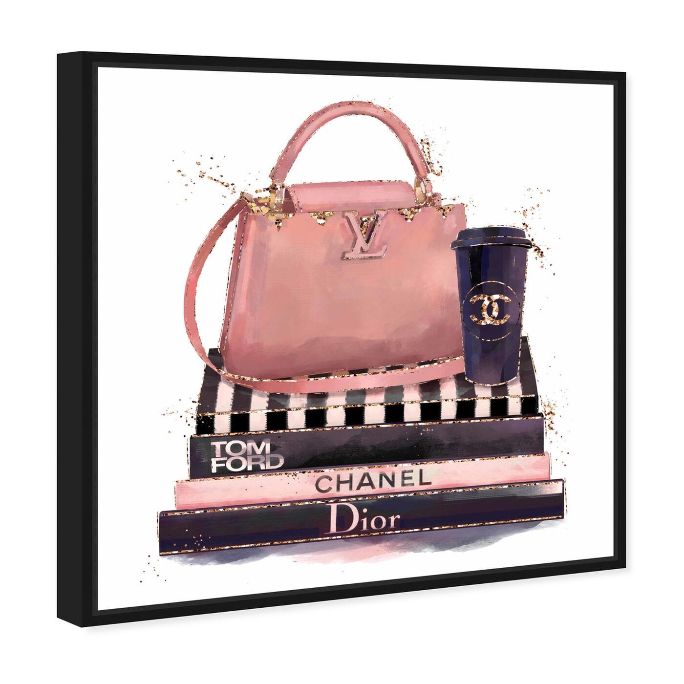 Angled view of Treasured Handbag featuring fashion and glam and handbags art.