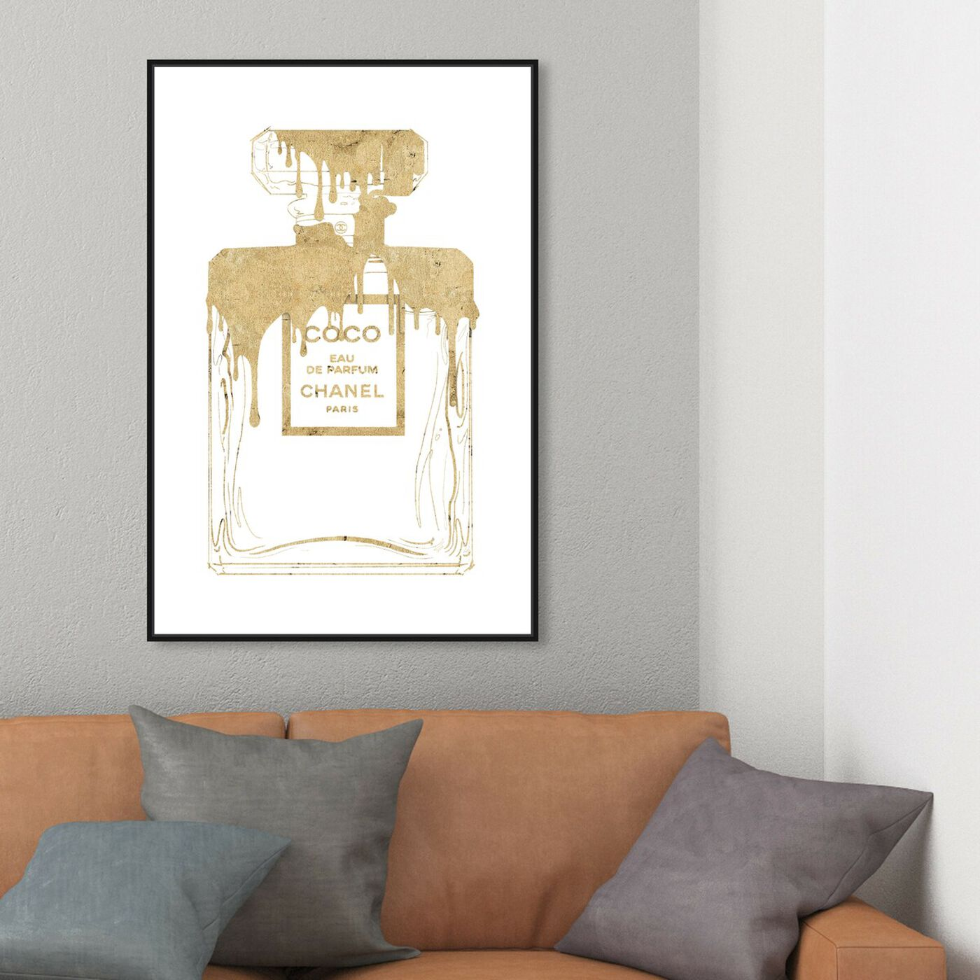 Hanging view of Golden Drip Perfume featuring fashion and glam and perfumes art.