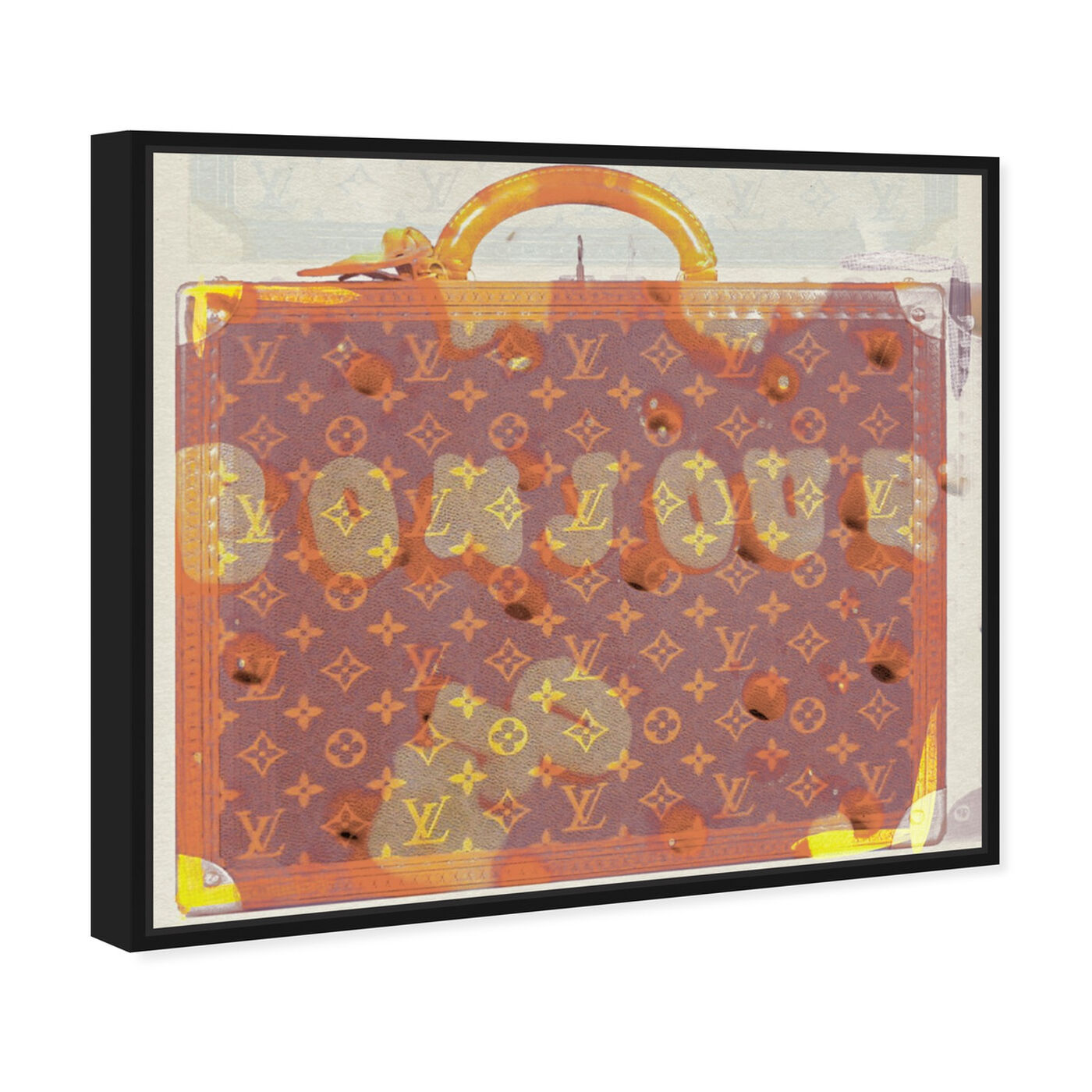Angled view of Bonjour II featuring fashion and glam and travel essentials art.