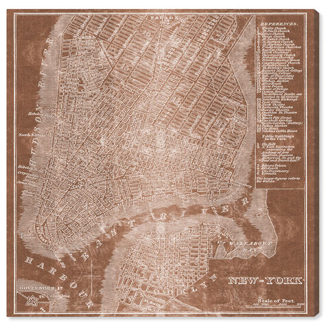 New York Map Copper