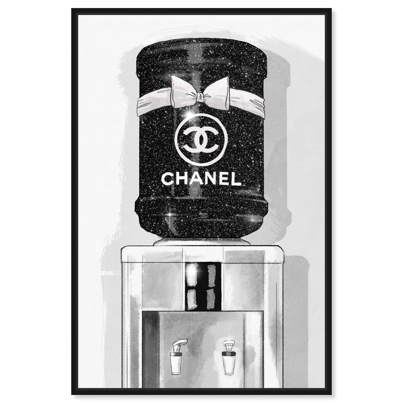Front view of French Luxe Watercooler featuring fashion and glam and fashion art.