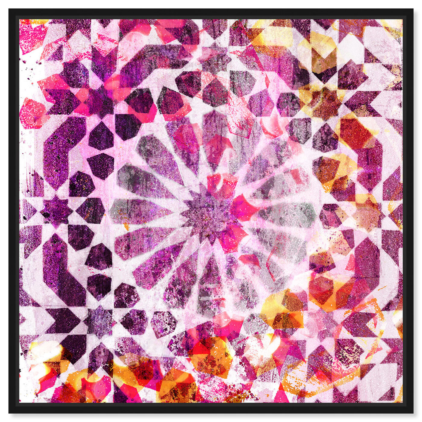 Front view of Majid Pink featuring abstract and patterns art.