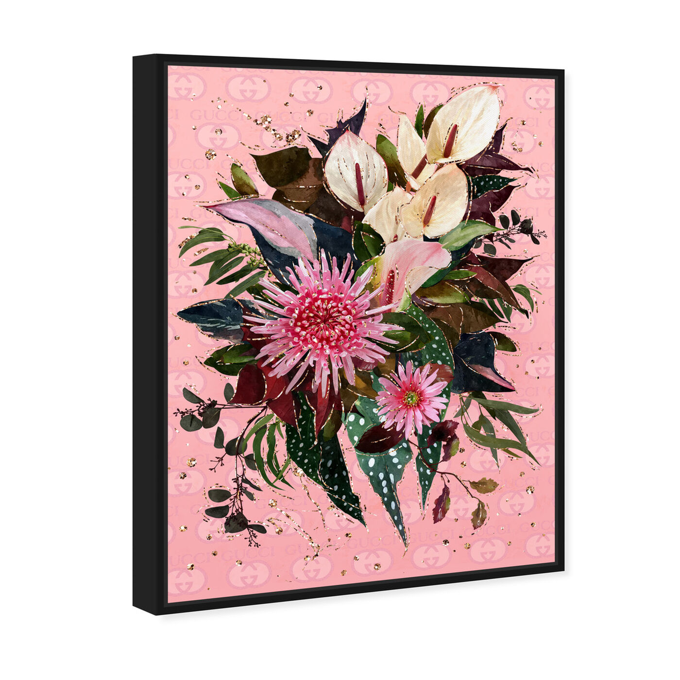 Angled view of The Garden Bouquet featuring floral and botanical and florals art.