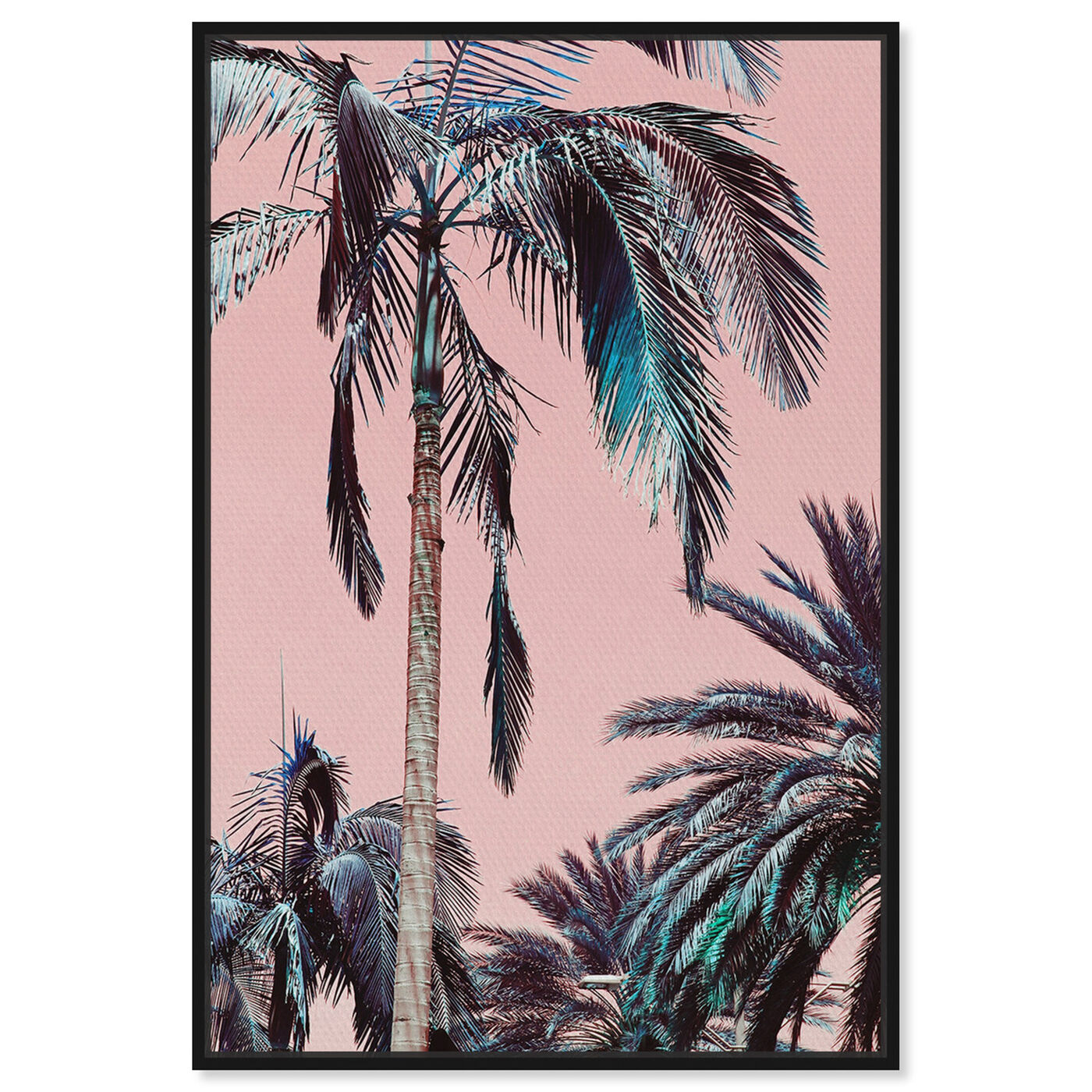 Front view of Beach Vibes featuring floral and botanical and trees art.