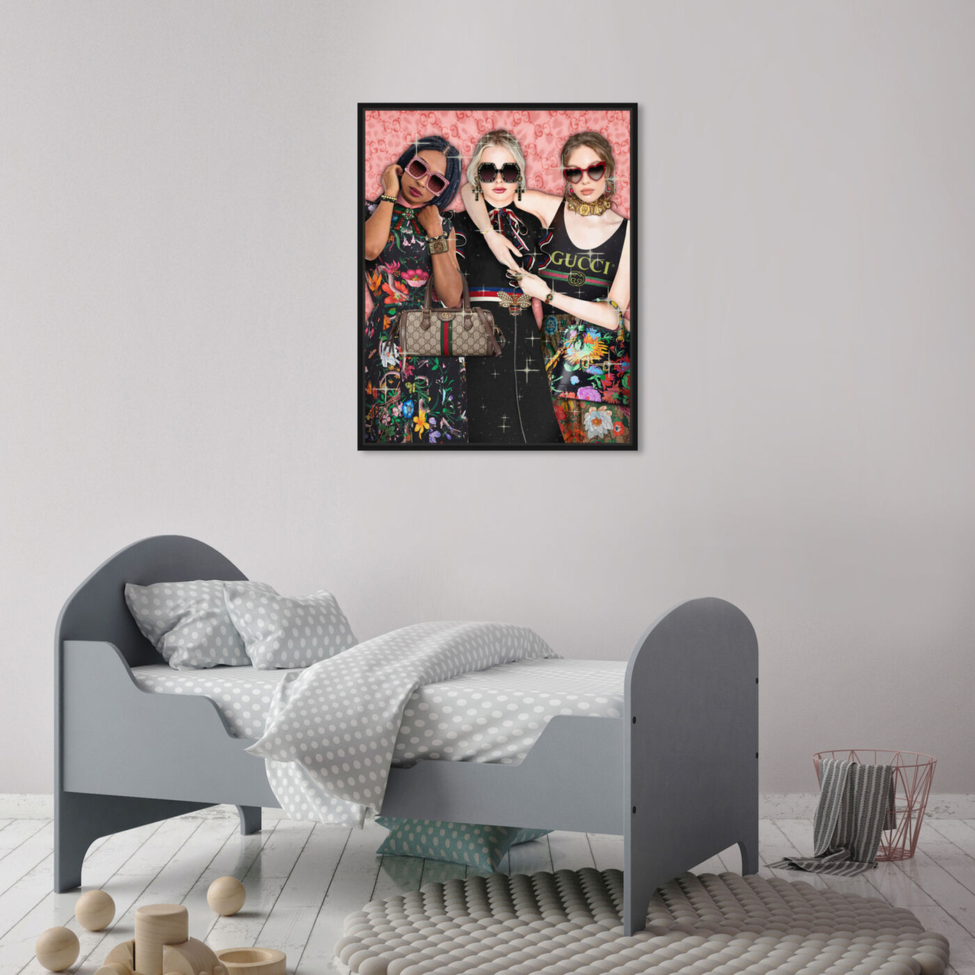Hanging view of Colorful Trio featuring fashion and glam and runway art.