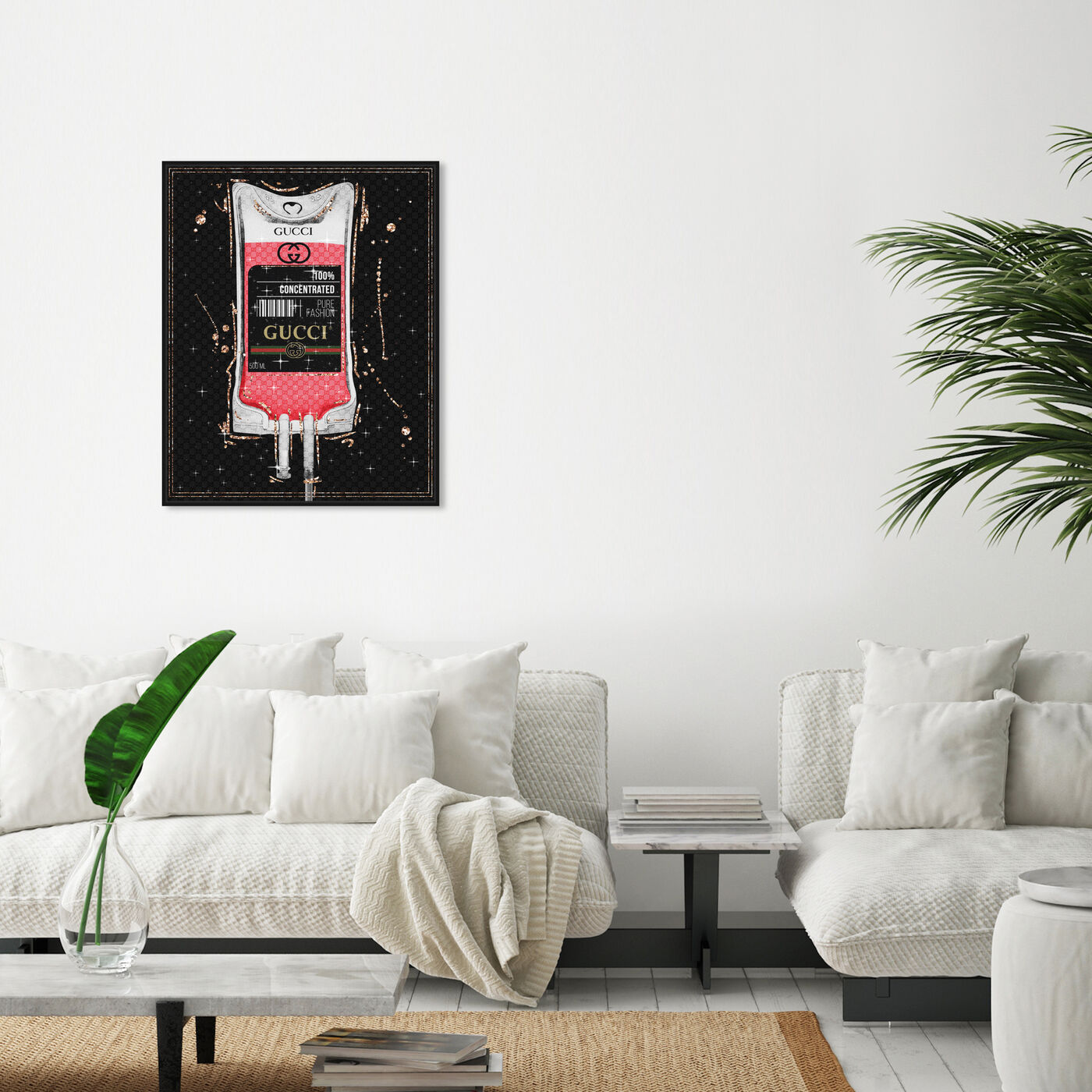 Hanging view of 100% Pure Fashion featuring fashion and glam and fashion lifestyle art.