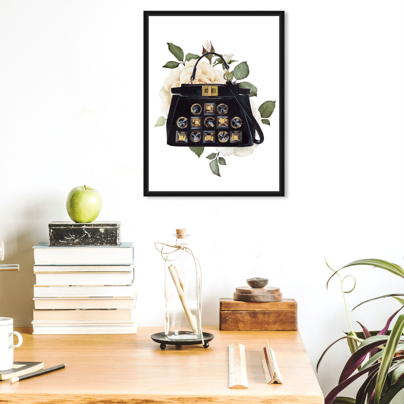 Hanging view of Doll Memories - Woman's Vintage Bag featuring fashion and glam and handbags art.