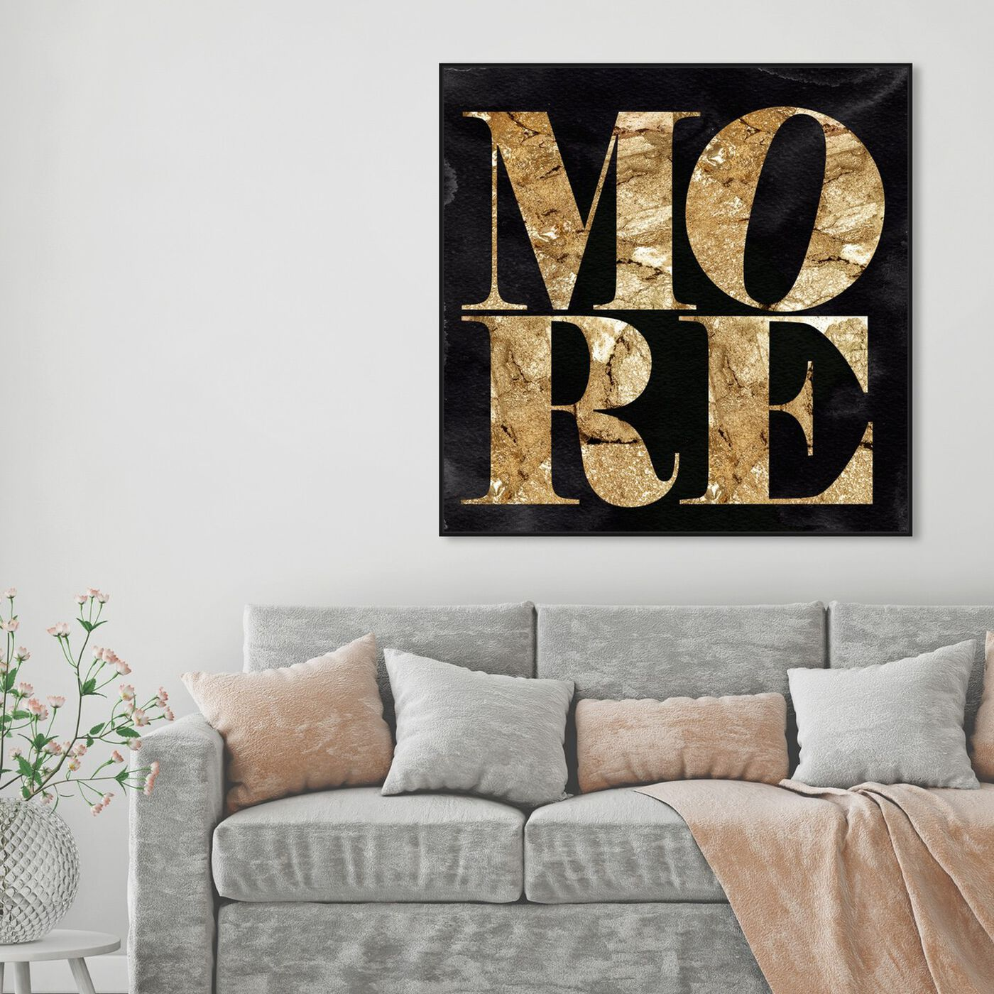 Hanging view of Solid Gold More featuring typography and quotes and love quotes and sayings art.
