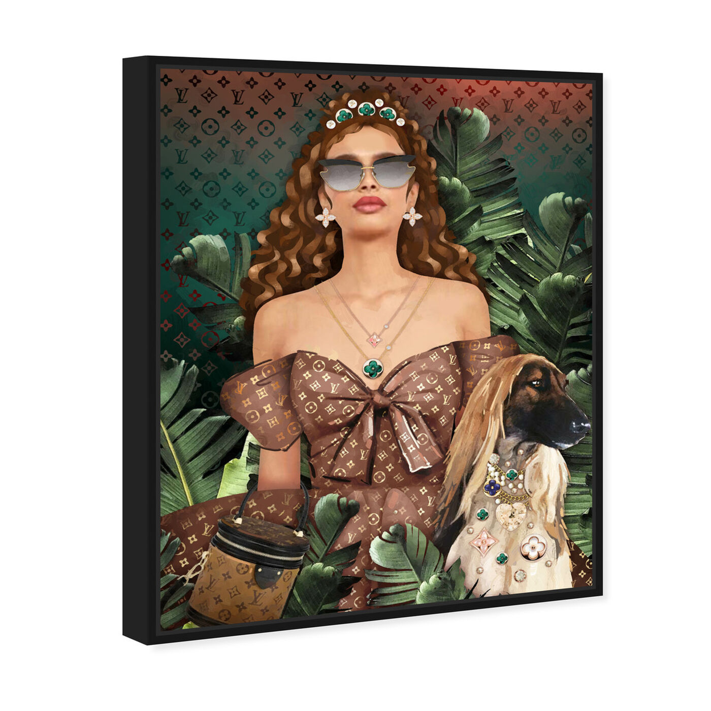 Angled view of Glam Camp featuring fashion and glam and portraits art.