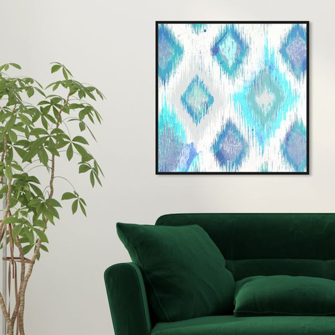 Hanging view of Del Mar featuring abstract and geometric art.