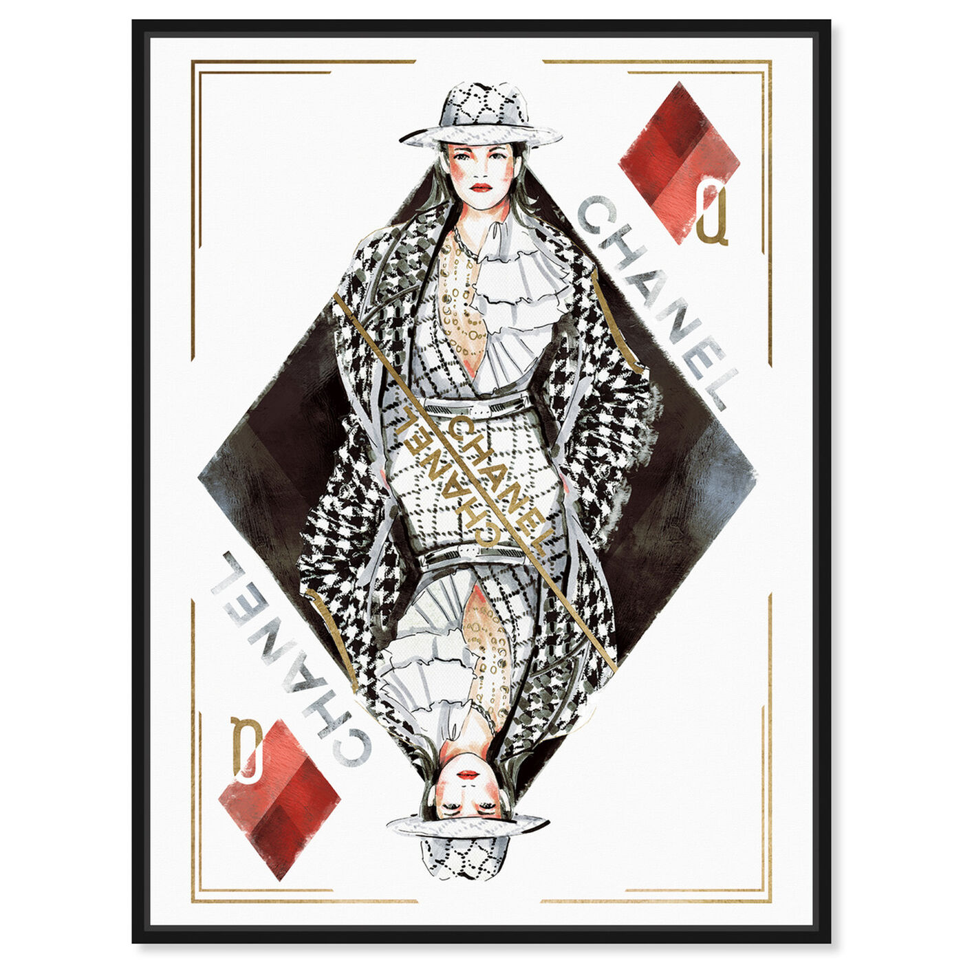 Front view of Queen of Diamonds Classic featuring fashion and glam and outfits art.