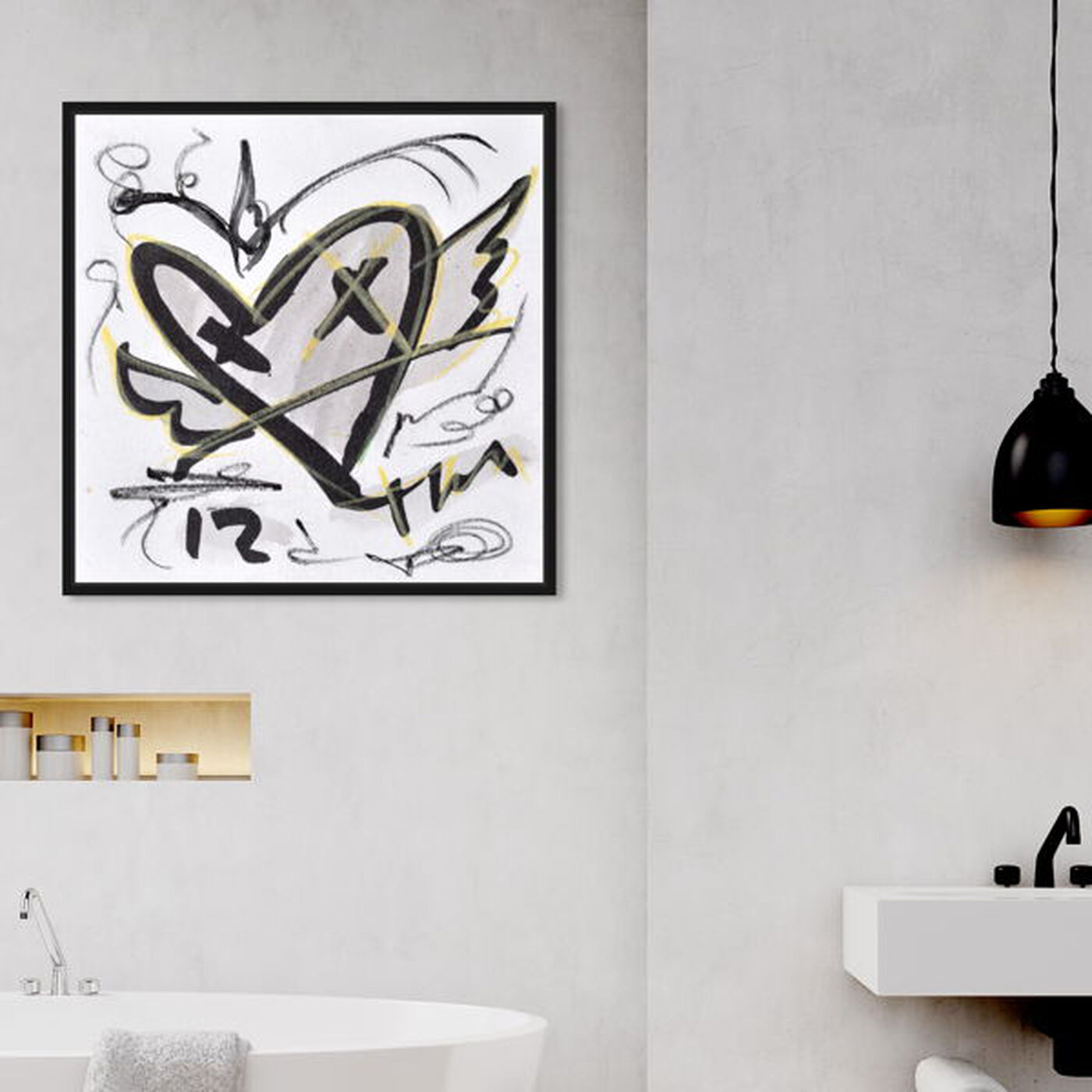 Hanging view of Sketch by Tiago Magro featuring abstract and paint art.