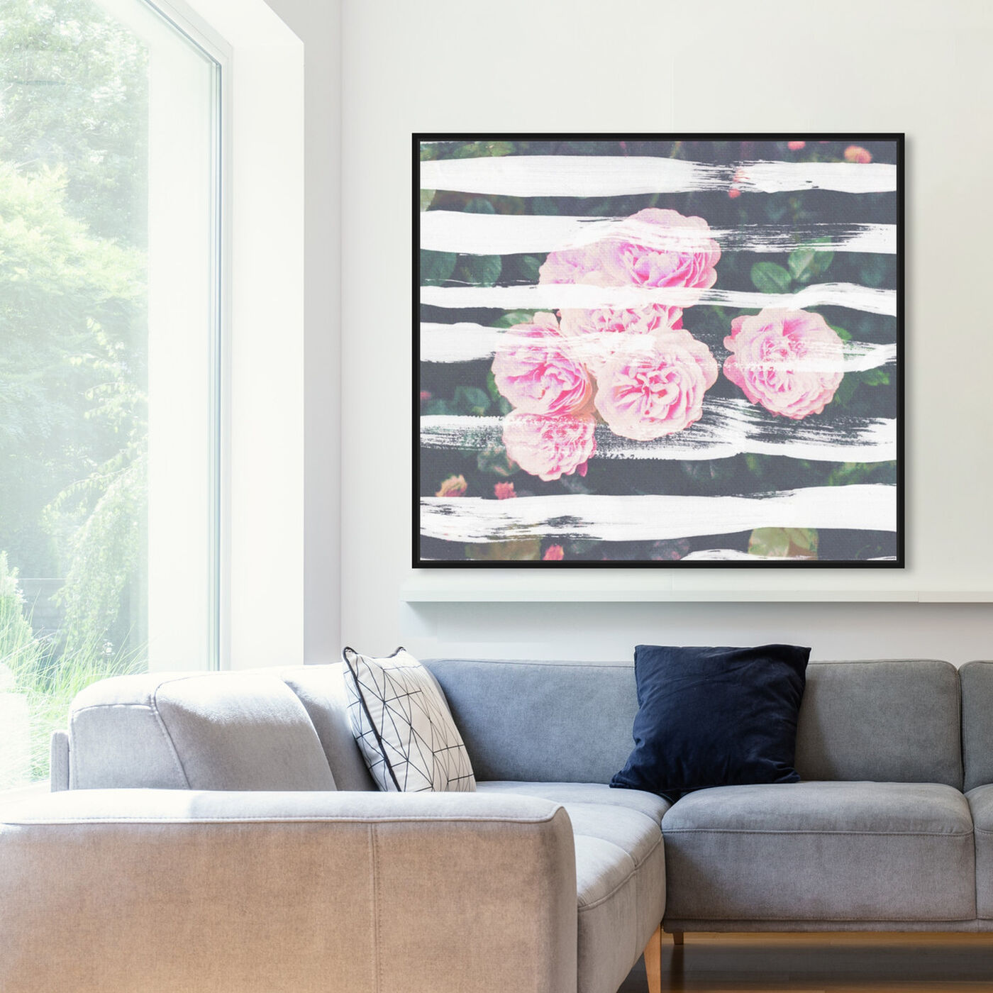 Hanging view of Blooming Strokes featuring floral and botanical and florals art.