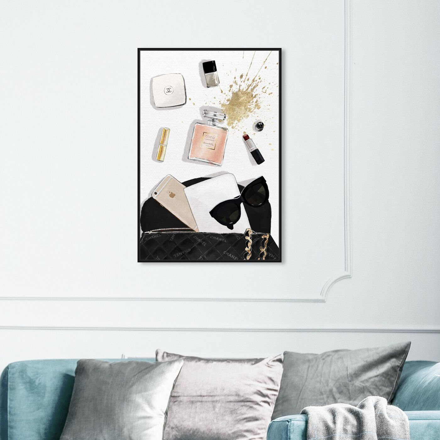 Hanging view of Midnight Bag featuring fashion and glam and perfumes art.