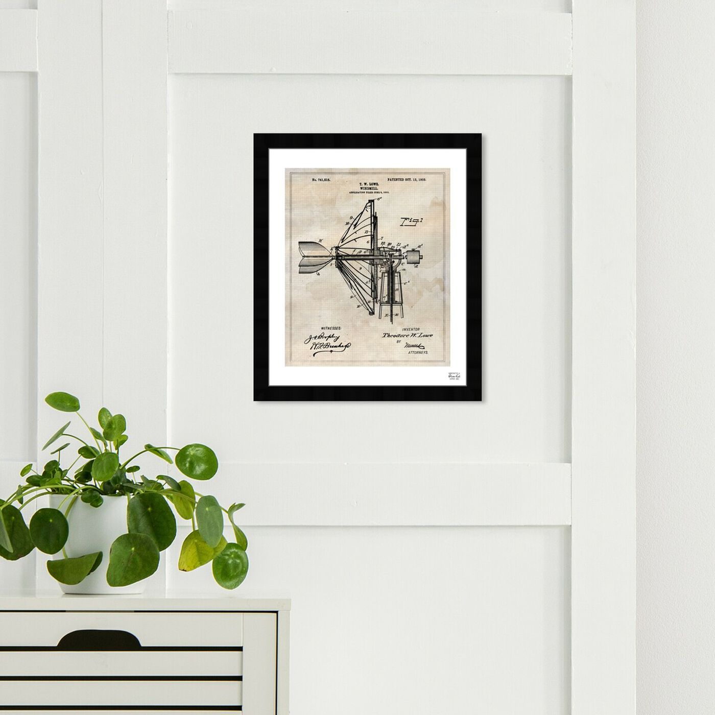 Hanging view of Windmill 1903 featuring architecture and buildings and structures art.