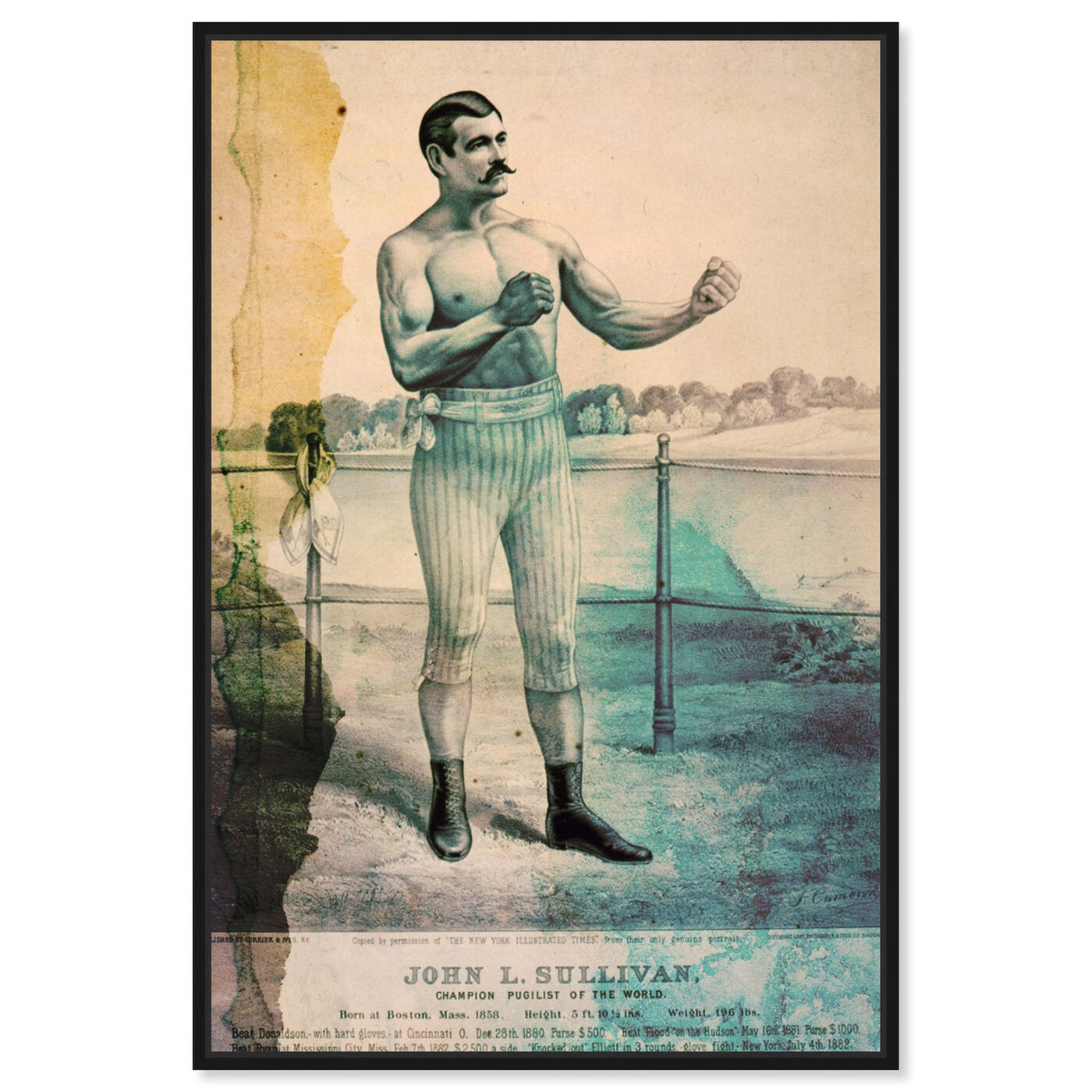 Front view of Pugilist featuring sports and teams and boxing art.